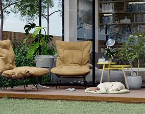 Exterior Scene Backyard Design 3D model