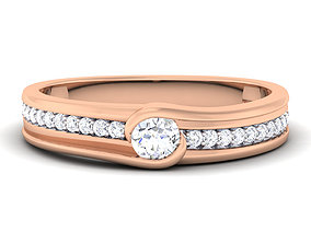 Wedding band engagement ring 1 3D printable model