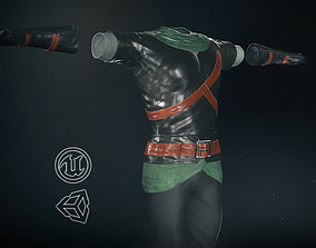 Male Medieval Outfit 2 3D model realtime