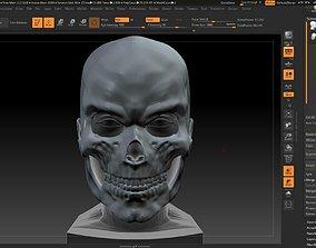 3D printable model Skull mask skull mask moving jaw 3