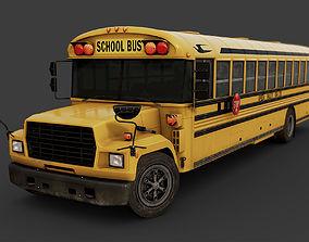 3D model low-poly School Bus