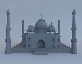 3D Taj Mahal with Mosque