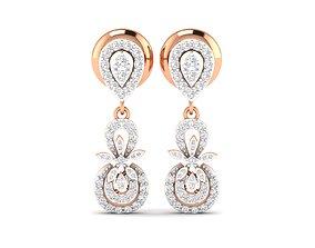 Women earrings 3dm stl render detail drop-earrings