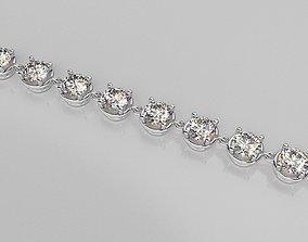 3D print model diamon bracelet chain