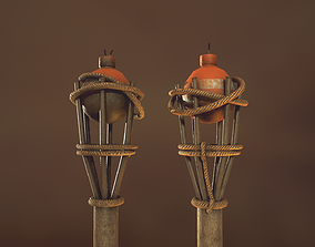 Ground torch 3D model