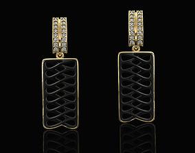 Parametric earrings enamel 3D printable model