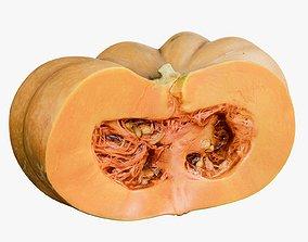 3D asset Pumpkin Clean Cutted 1