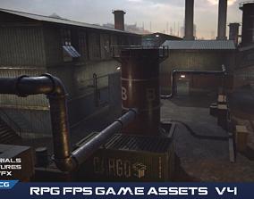 3D model PBR RPG FPS Game Assets Industrial Set v4