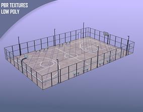 3D model realtime Street urban basketball court