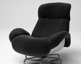 Retro Balck And White Chair 3D model