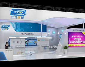 stall Exhibition stand 12x12mtr 3sides open 3D model