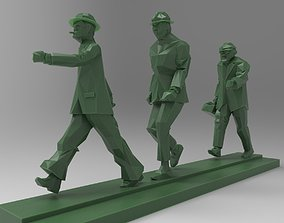 Low-poly sculpture group 3D printable model