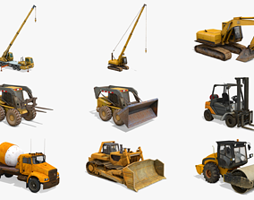 Construction Vehicles Pack 3 3D model