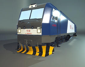 HXD3B Train Engine 3D model