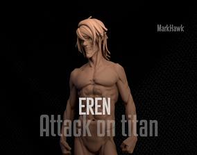 3D printable model Attack on Titan-Eren Yeager