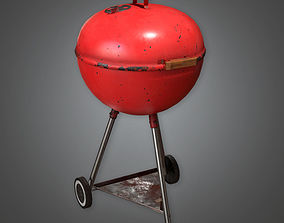 3D asset Portable Grill TLS - PBR Game Ready