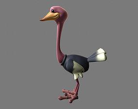 Avestruz cartoon 3D model