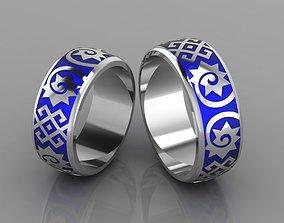 3D print model metallic Wedding rings