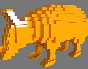 3D printable model AS LowRez Series - Armadillo