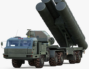 S-400 Triumf Launch Vehicle -Vray 3D