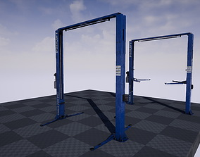 3D asset props Car Lift
