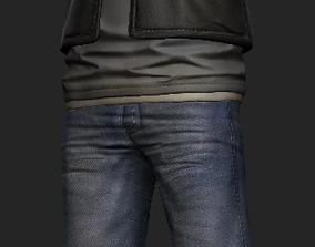 Biker next-gen 3D character rigged