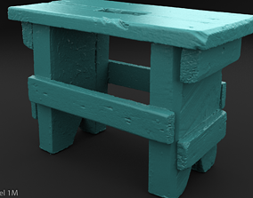 Scanned Small Bench 3D printable model