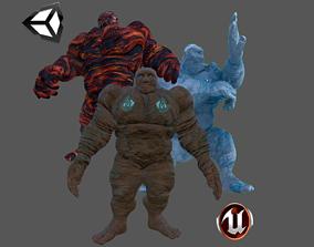 3D asset Golem Pack