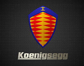 3D model koenigsegg logo