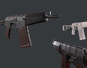 3D asset Soviet Assault Rifle