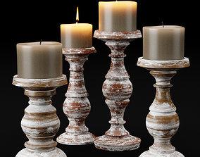 candlestick set 3 3D model