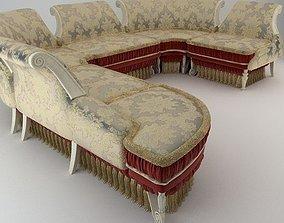 3D Baroque Antique Sofa