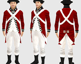 3D British soldier 1780