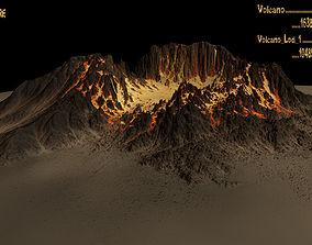 3D asset Volcano