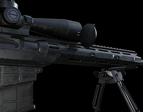 SNIPER RIFLE 3D model rigged