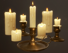 3D model Candles Pack - PBR Game Ready