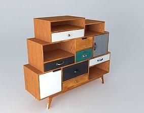 Cabinet PICADILLY Maisons du Monde 3D model