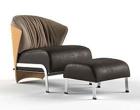 3D model Elba Chair with Ottoman