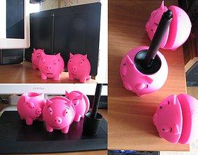 3D print model Wacom Intuos Pro stand Three piggies