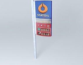 3D Fuel Retail station Statoil VEF stella