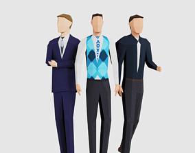 Business Men 3D asset VR / AR ready