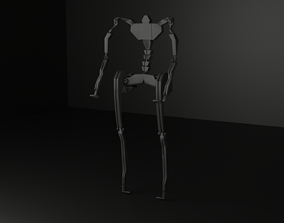 Exoskeleton 3D model rigged low-poly