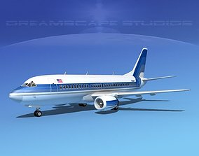 Boeing 737-300 Corporate 3D model