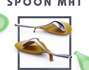 spoon mat 3D print model kitchen