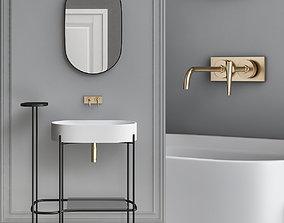 game-ready Washbasins Furniture 3d model