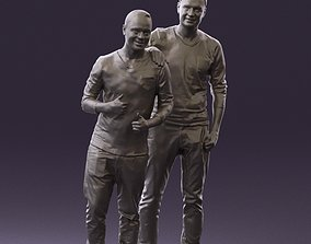 Two man friends hand on shoulder 0821 3D Print Ready