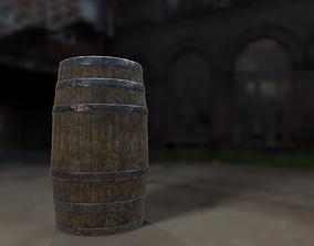 3D asset Old barrel