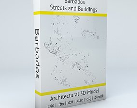 Barbados Streets and Buildings realistic 3D model