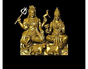 durga mata and Shiva and ganesh 3D printable model 1