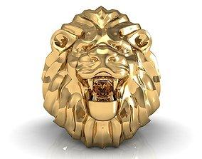 Lion Ring sapphire 3D printable model